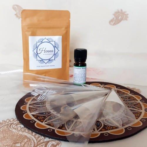 henna készlet, kezdő henna készlet, henna próbakészlet